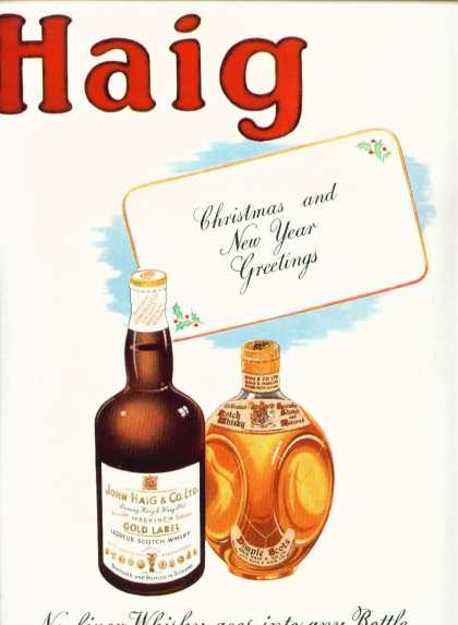 John Haig Gold Label Dimple Scots Whisky Color (1942)