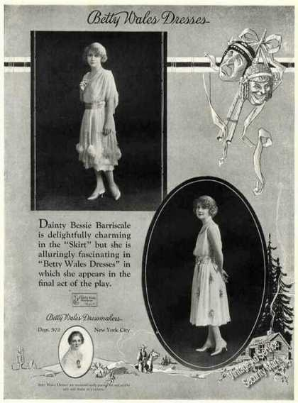 Betty Wales Dressmakers Bessie Barriscale Photo (1921)