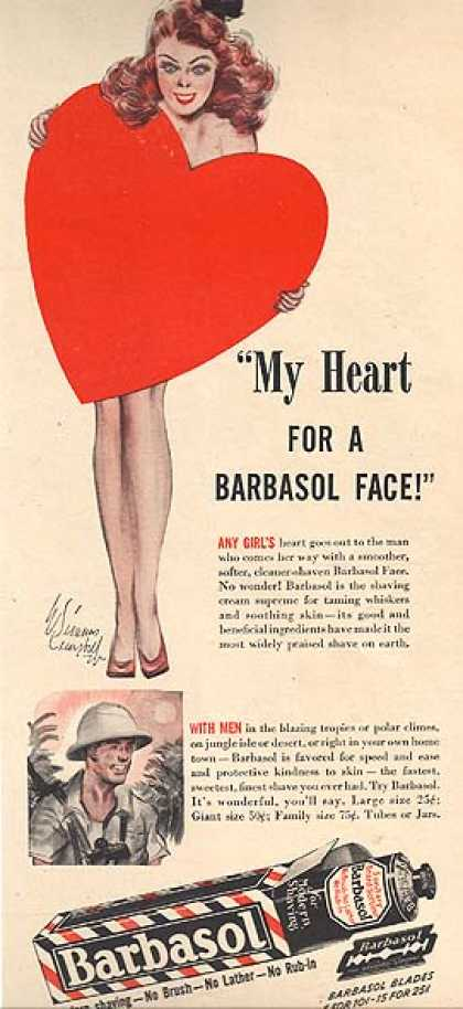 Barbasol's Shaving Cream (1944)