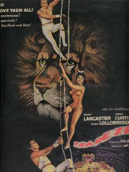Trapeze (Burt Lancaster, Tony Curtis and Gina Lollobrigida) (1956)