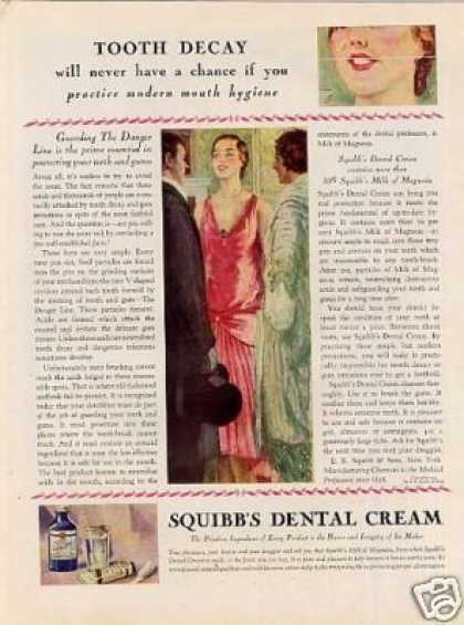 Sqibb's Dental Cream Color (1929)