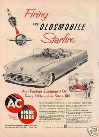 Ac Plugs Ad Oldsmobile Starfire Car (1951)