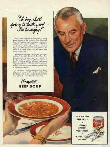 Campbell's Beef Soup Collectible (1941)