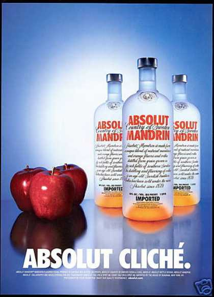 Absolut Vodka Mandrin Bottles Cliche Apples (2001)