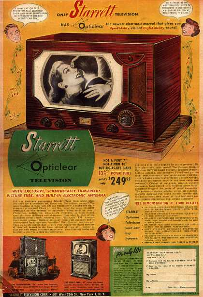 "Starrett Television Corporation's Starrett Opticlear ""Nathan Hale"" – Only Starrett Television (1949)"
