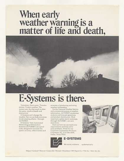 E-Systems AUTOMET Early Weather Warning Tornado (1974)