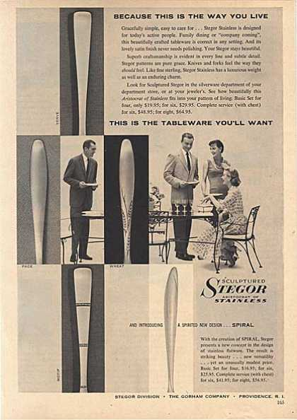Stegor's Stainless Tableware (1956)
