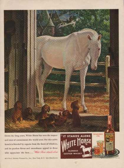 It Stands Alone White Horse Whisky (1946)