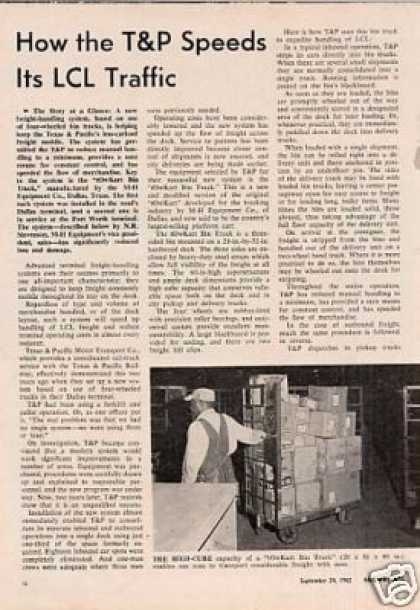 """""""How the T&p Speeds It's Lcl Traffic"""" Article (1962)"""
