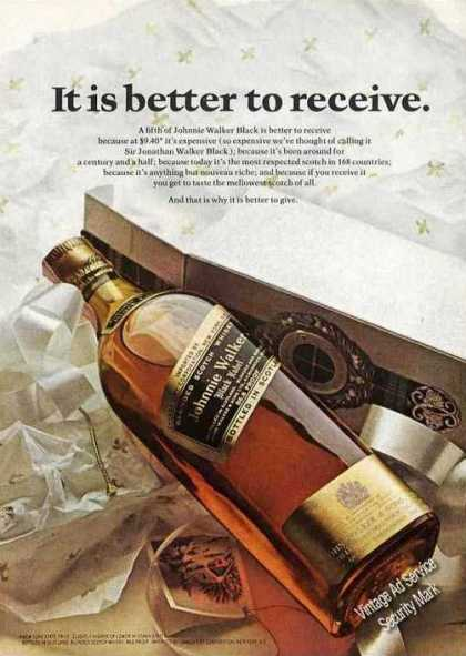 "Johnnie Walker Scotch ""It Is Better To Receive"" (1967)"