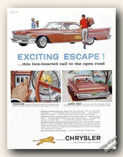 Chrysler Lion Hearted Call To Open Road (1959)
