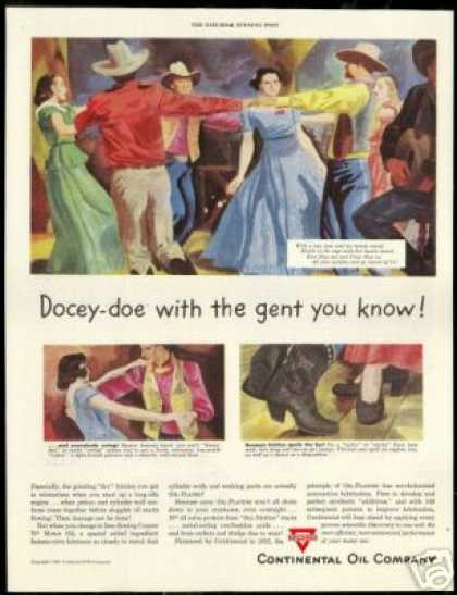 Country Square Dancers Vintage Art Conoco (1949)
