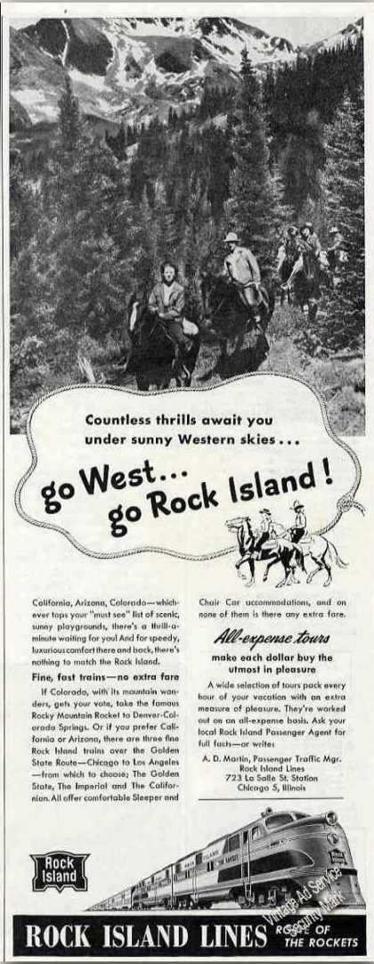 Rock Island Lines All Expense Tours To the West (1947)