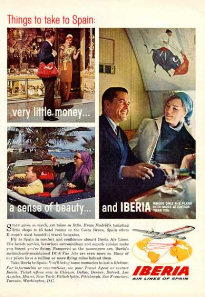 Iberia Airlines Spain 1rst Class Cabin (1964)