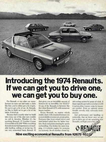 Renaults Introduction Collectible Car (1974)