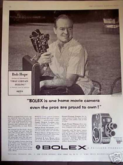 Bob Hope Photo Bolex 8mm Movie Camera (1956)