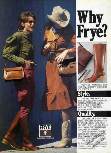 Frye Boots Color Fashion (1981)