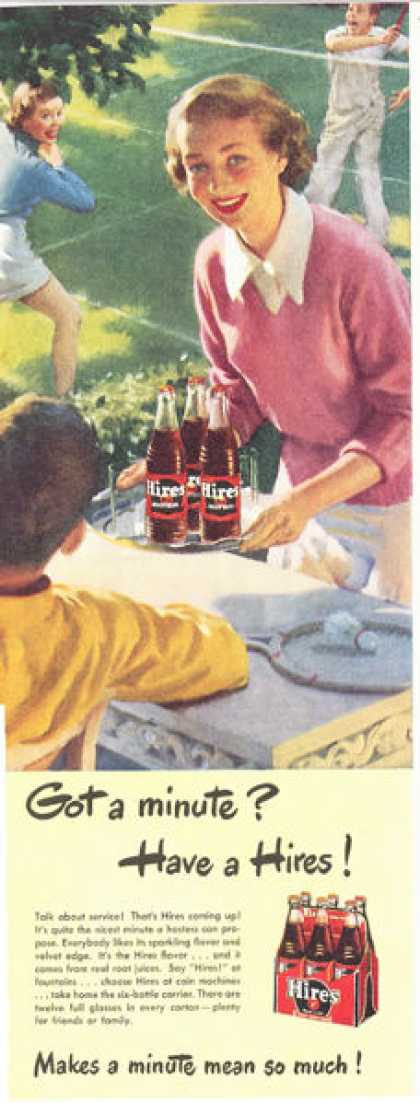 Hires Root Beer Bottle 6 Pak Print (1949)