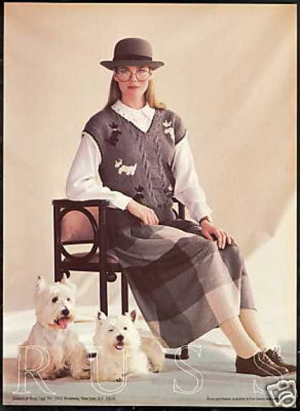 Westie Dog White Terrier Photo Russ Sportswear (1985)
