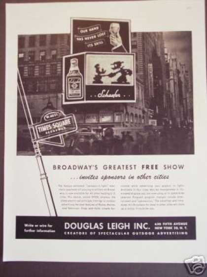 Advertising Sign In Lights On Broadway (1945)