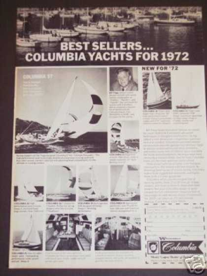 Columbia Yachts for Bill Tripp Sailboat (1972)