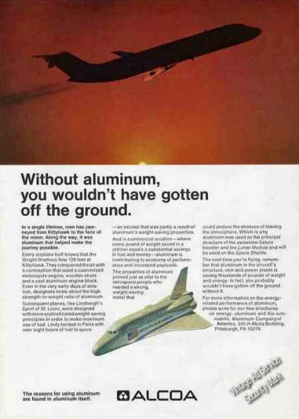 Space Shuttle Photo Alcoa Aluminum (1974)