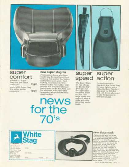White Stag Super Fin Scuba Diving Diver (1970)