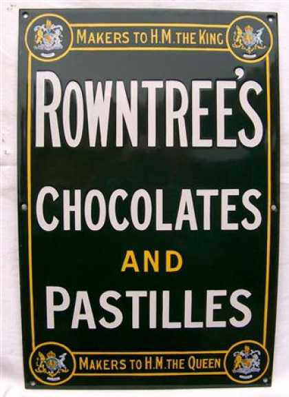 Rowntree's Chocolates & Pastilles Enamel Sign