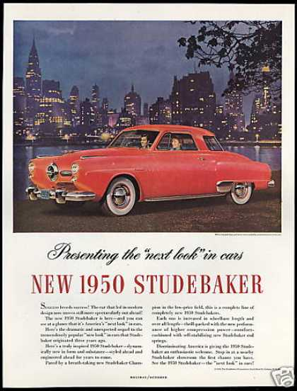Red Studebaker Champion Car Vintage Photo (1950)