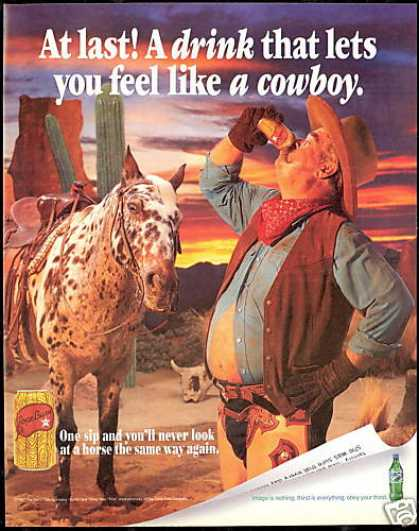 Horse Southwest Cowboy Sprite Coca Cola (1997)