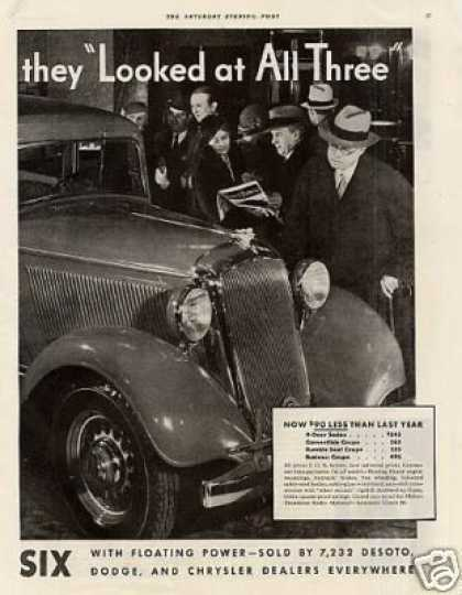 Plymouth Six Car Ad 2 Page (1933)