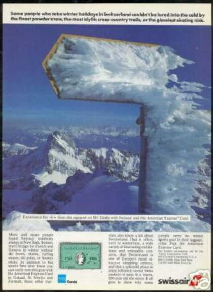 Switzerland Mt Santis Swissair American Express (1986)