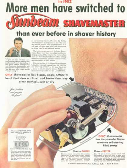 Sunbeam Shavemaster Electric Shaver (1952)