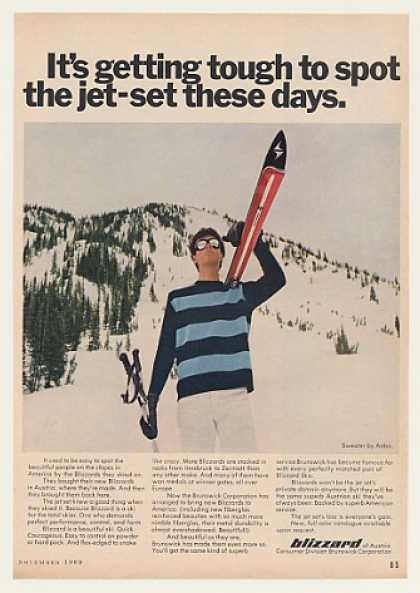 Blizzard Skis Tough to Spot Jet-Set (1969)
