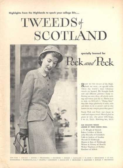 Peck and Peck Tweeds of Scotland Ladies (1952)