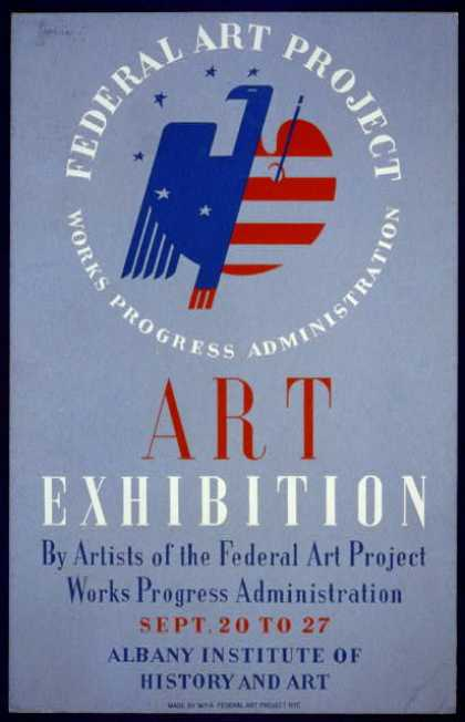 Federal Art Project, Works Progress Administration art exhibition by artists of the Federal Art Project ... [at the] Albany Institute of History and (1936)