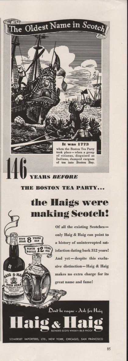 Haig & Haig Dont Be Vague Ask for Haig Sco (1939)