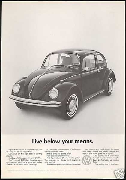 VW Volkswagen Bug Below Your Means Car (1968)