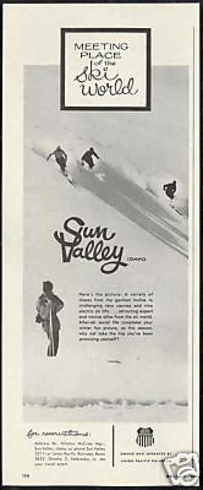 Idaho Sun Valley Snow Ski Skiers Vintage (1959)