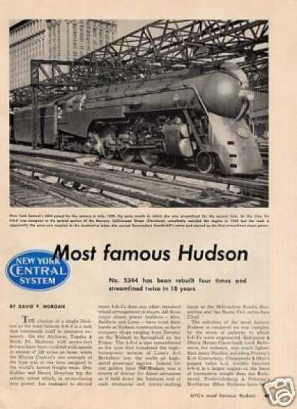 """Most Famous Hudson"" Article/nyc 4-6-4 #5344 (1950)"