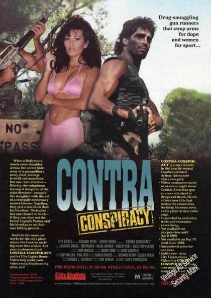 Contra Conspiracy Movie Promo Trade (1988)