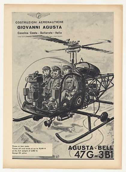 Agusta Bell 47G-3B1 204B 47J-3B1 Helicopter 3-P (1963)