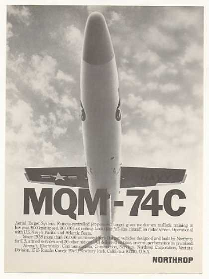 Northrop MQM-74C Aerial Target Drone Photo (1976)
