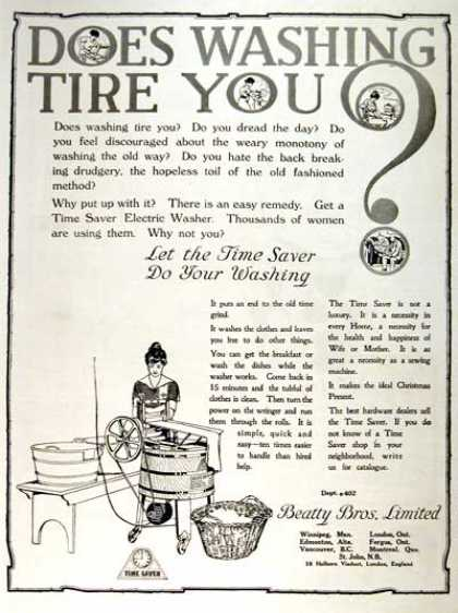 Time Saver Electric Washing Machine (1919)