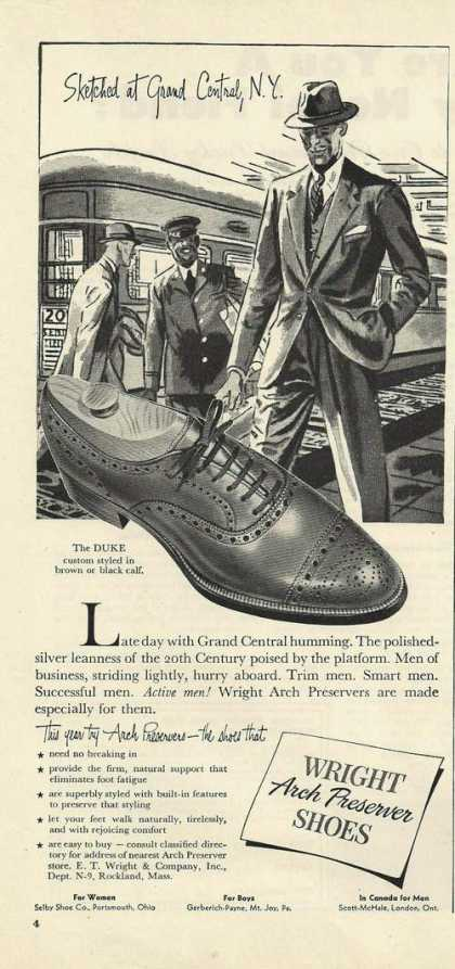 Wright Arch Mens Preserver Shoes (1947)