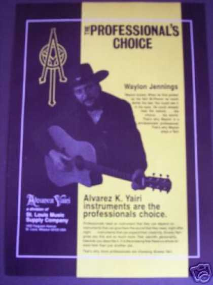 Waylon Jennings Photo Alvarez K. Yairi Guitar (1986)