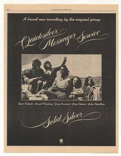 '75 Quicksilver Messenger Service Solid Silver Photo (1975)