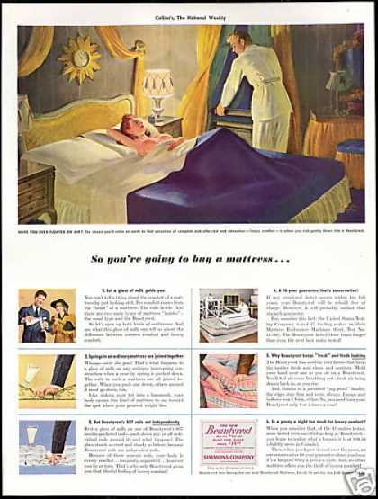 Simmons Beautyrest Mattress 10 year Guarantee (1941)
