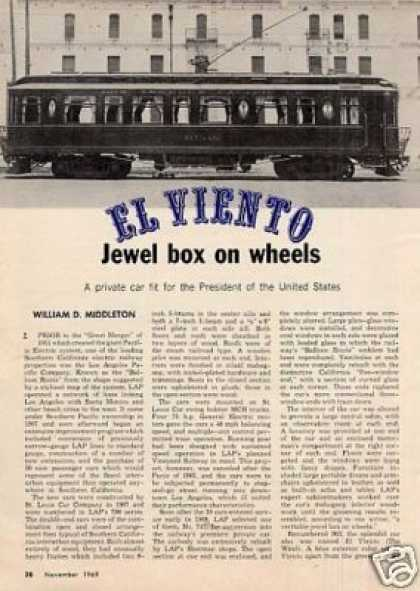 """El Viento"" Article/los Angeles Pacific Co. #747 (1969)"