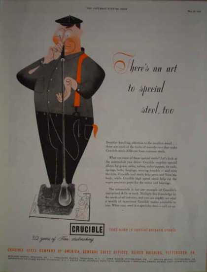 Crucible Steel Co Pittsburgh PA Art to special steel (1952)